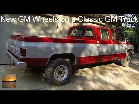 Classic GM Truck With Newer GM Wheels Conversion Lug Nuts YouTube Cool Chevy Truck Wheel Bolt Pattern