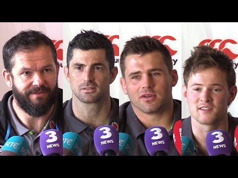 Andy Farrell, Rob Kearney, C J Stander & Kieran Marmion Pre-Match Press Conference - Wales v Ireland