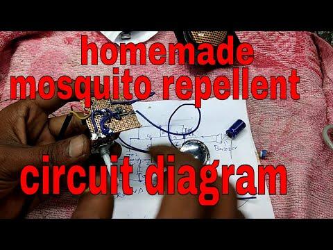 homemade mosquito repellent circuit diagram