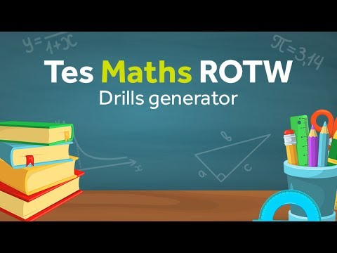 Drills: TES Maths Resource of the Week - YouTube