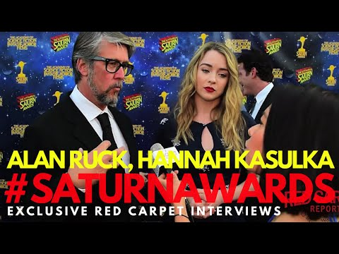 Alan Ruck & Hannah Kasulka interviewed at the 42nd Annual Saturn Awards #SaturnAwards