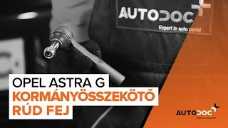 OPEL ASTRA G Hatchback (F48_, F08_) Dobfék fékpofa beszerelése: ingyenes videó