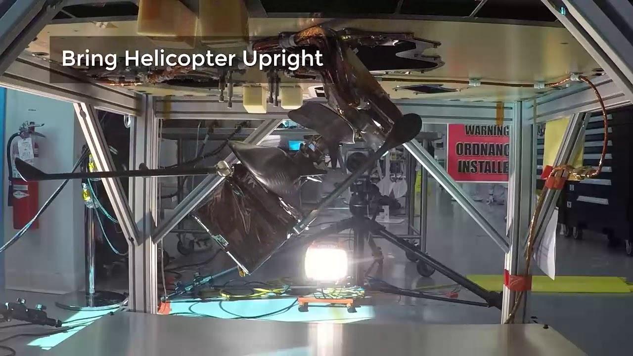 퍼서비어런스 본체에서 헬리콥터가 분리되는 과정