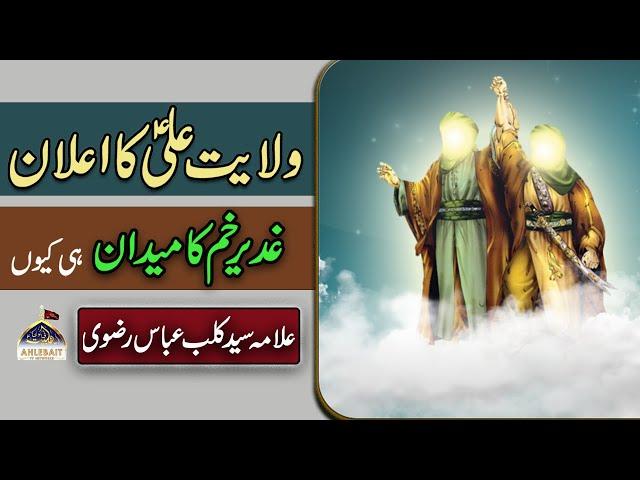 Wilayat-e-Ali a.s ka Elaan. Ghadeer ka Maidan kyun Muntakhib kiya. [Allama Syed Kalbe Abbas Rizvi]