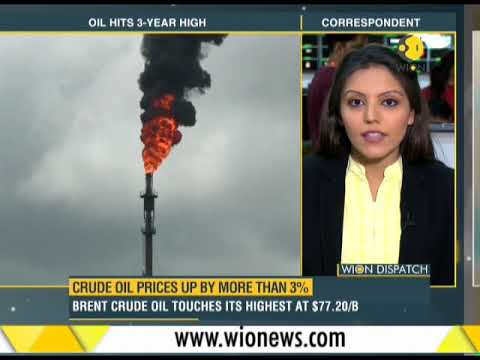 WION Dispatch: Crude oil prices up by more thn 3%; Brent crude oil touches its highest at $77.20/B