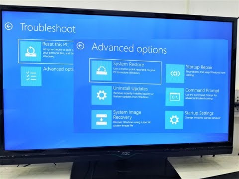 How To Enter Advanced Options & Reset PC Using CMD In Windows 10