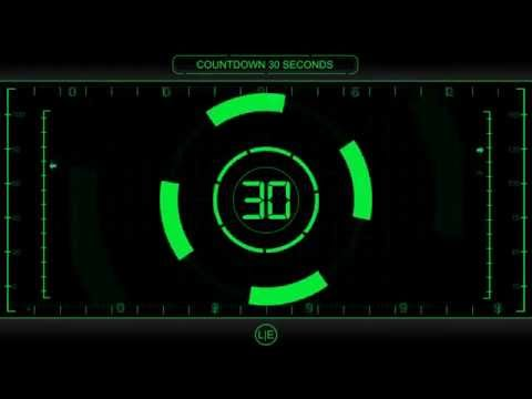 COUNTDOWN Timer 30 sec  v 225  Clock with Sound Effects and Voice 4k
