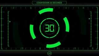 COUNTDOWN Timer 30 sec ( v 225 ) Clock with Sound Effects and Voice HD 4k