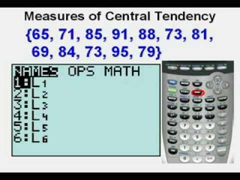 Measures of Central Tendency Graphing Calculator - YouTube