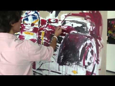 Yas Viceroy Abu Dhabi, live action art during F1 Grand Prix race weekend