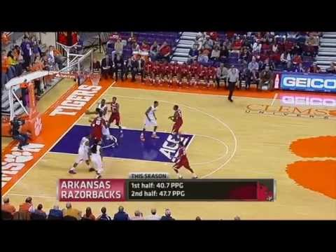 Bobby Portis, Arkansas @ Clemson - Highlights