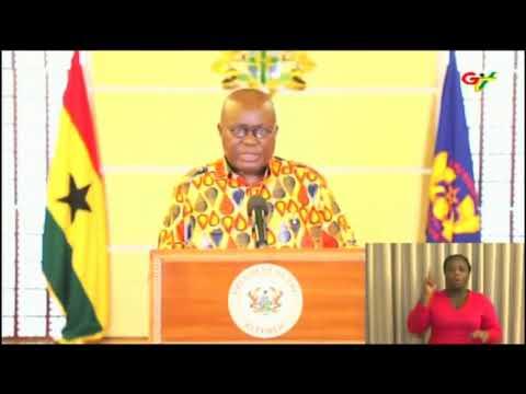President Akufo-Addo addresses Ghanaians on measures taken against spread of Coronavirus