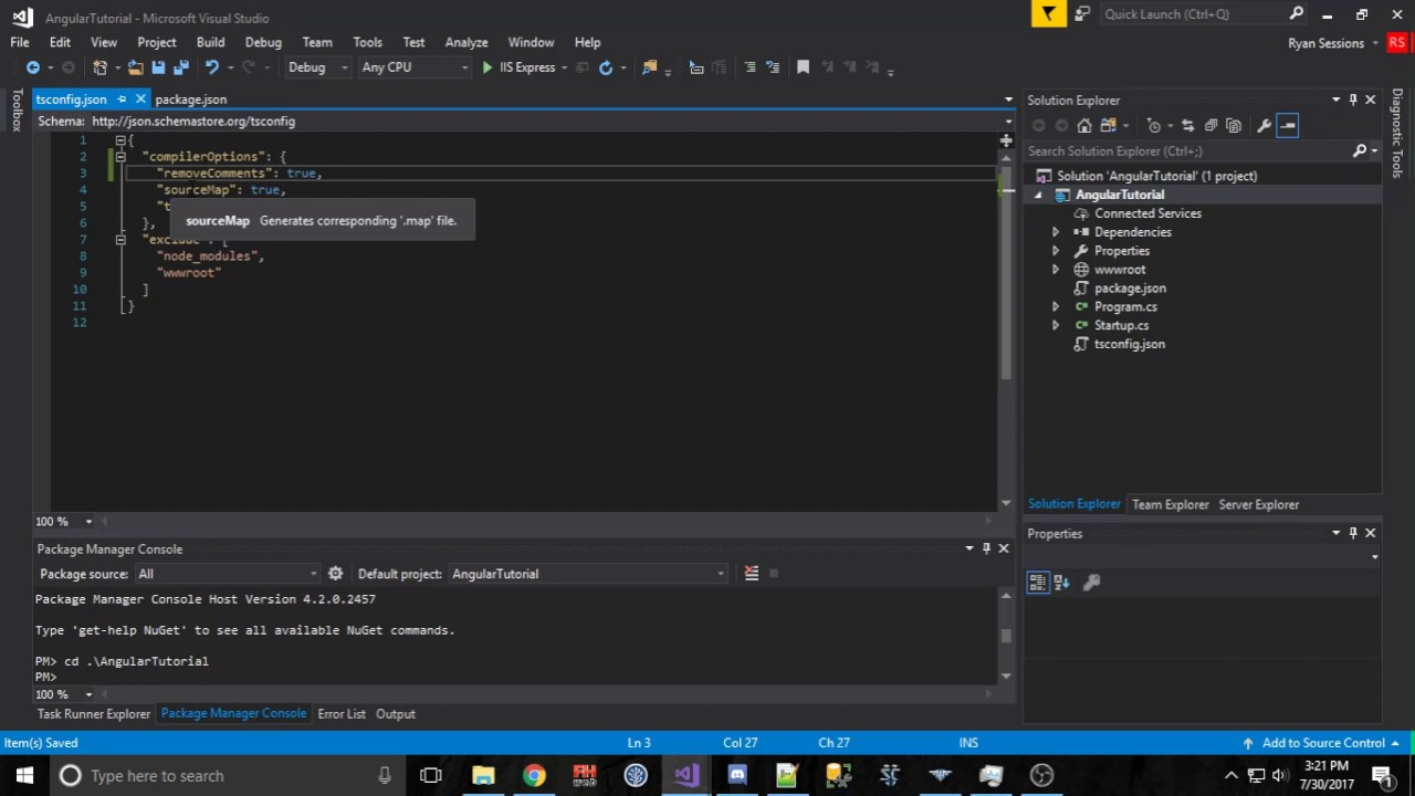 typescript import json