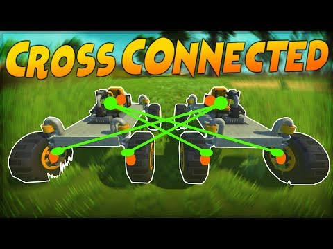 CROSS-CONNECTED TEAM RACE! - Scrap Mechanic Multiplayer Monday Challenge Gameplay