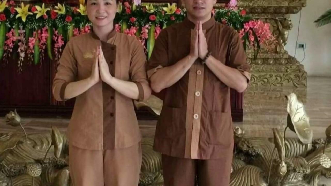 Đi chùa. Quần áo phật tử – áo lam. 0932115019.