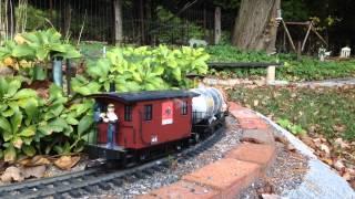 LGB Garden Railway CXCVIX....Freight train on The Wicked Short Line
