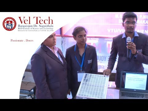VISAI 2018 - Energy Conservation using Solar Panel  Project explained by students