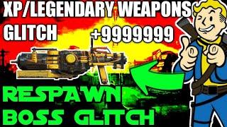 Fallout 76: Unlimited Xp/legendary weapons glitch! Boss respawn glitch!