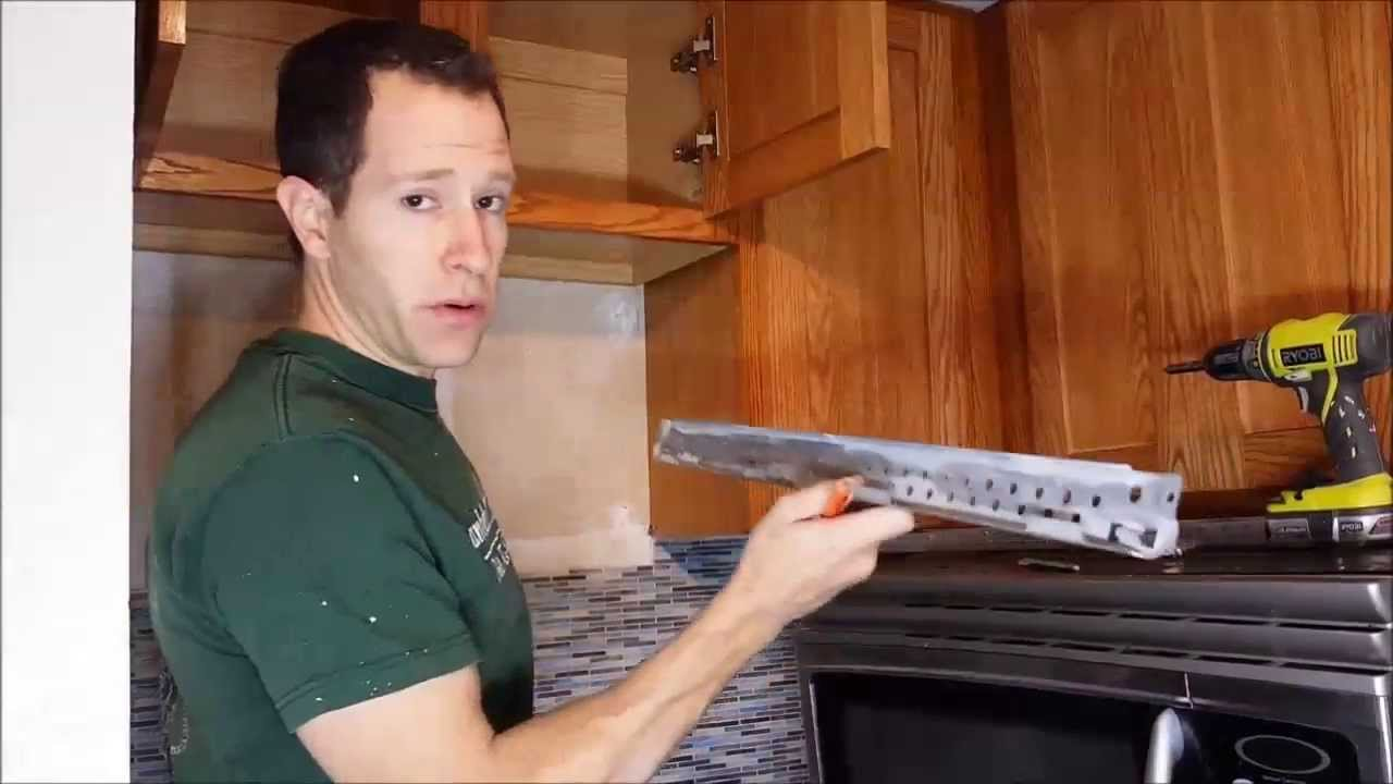 installing an above the range microwave