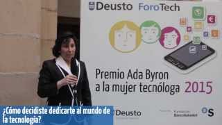Asunción Gómez Pérez. Ada Byron Award for Women in Technology 2015