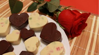 Конфеты из шоколада своими руками  Валентинка на 14 февраля