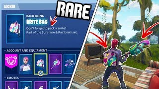"SECRET *NEW* BRITE BAG On Fortnite UNLOCKED - How To Unlock ""Brite Bag"" RARE -Fortnite Battle Royale"