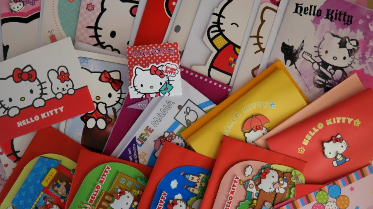 My Hello Kitty Greeting Card Collection Youtube
