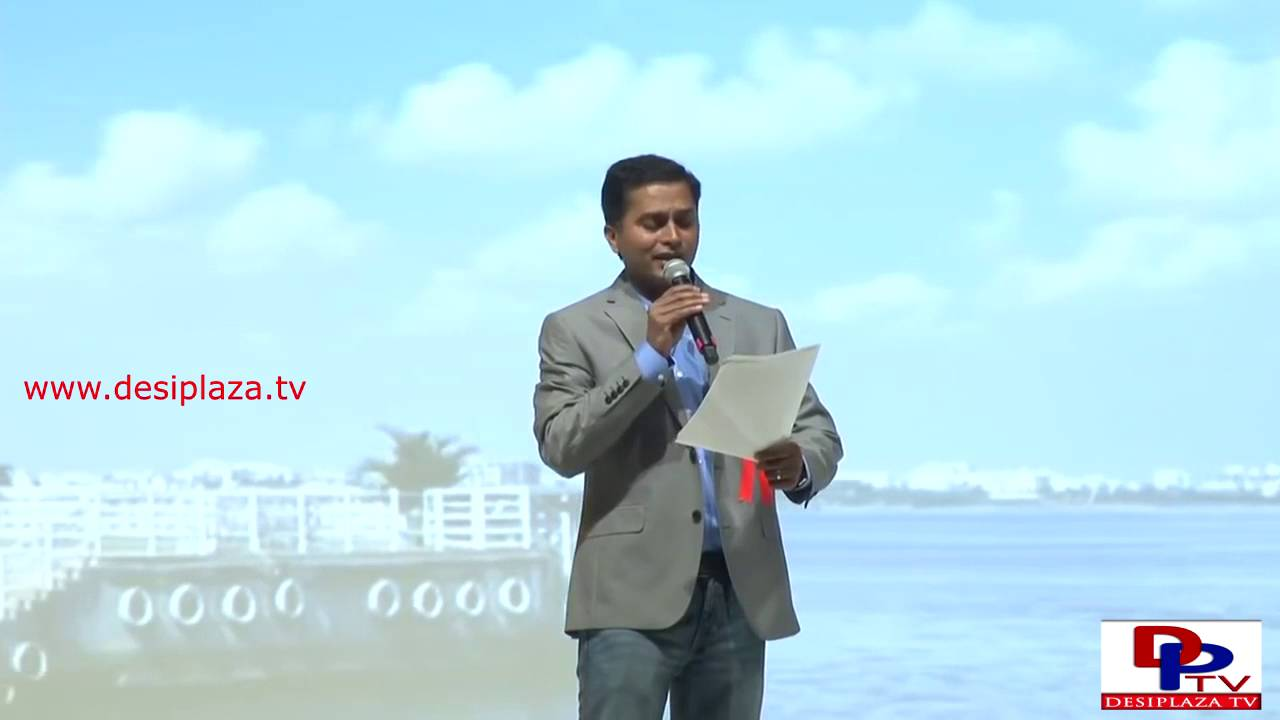 Janardhan Pannela singing a folk song at TDF 1st Global Telangana Convention  in Dallas, Texas.