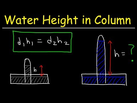 Height of Water in a Barometer Given Density & Column Height of Mercury - Chemistry Problems