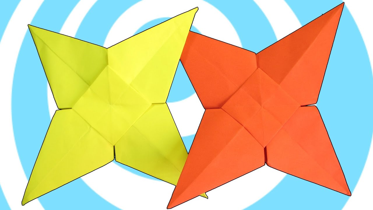 Easy Origami Star Instructions ( 4 pointed) - YouTube - photo#16