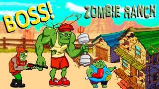 ЗОМБИ БОСС КАЧОК Напал НА РАНЧО и РАЗЛОМАЛ ЕГО! Битва с ТОЛПАМИ ЗОМБИ в Игре Zombie Ranch #2