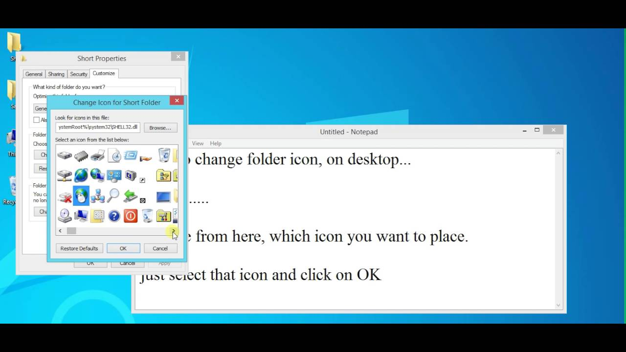 How to change desktop icon windows 8 : Sphtx coin address guide