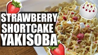 STRAWBERRY Shortcake Instant YAKISOBA Taste Test | Ramen, Ramen, Ramen