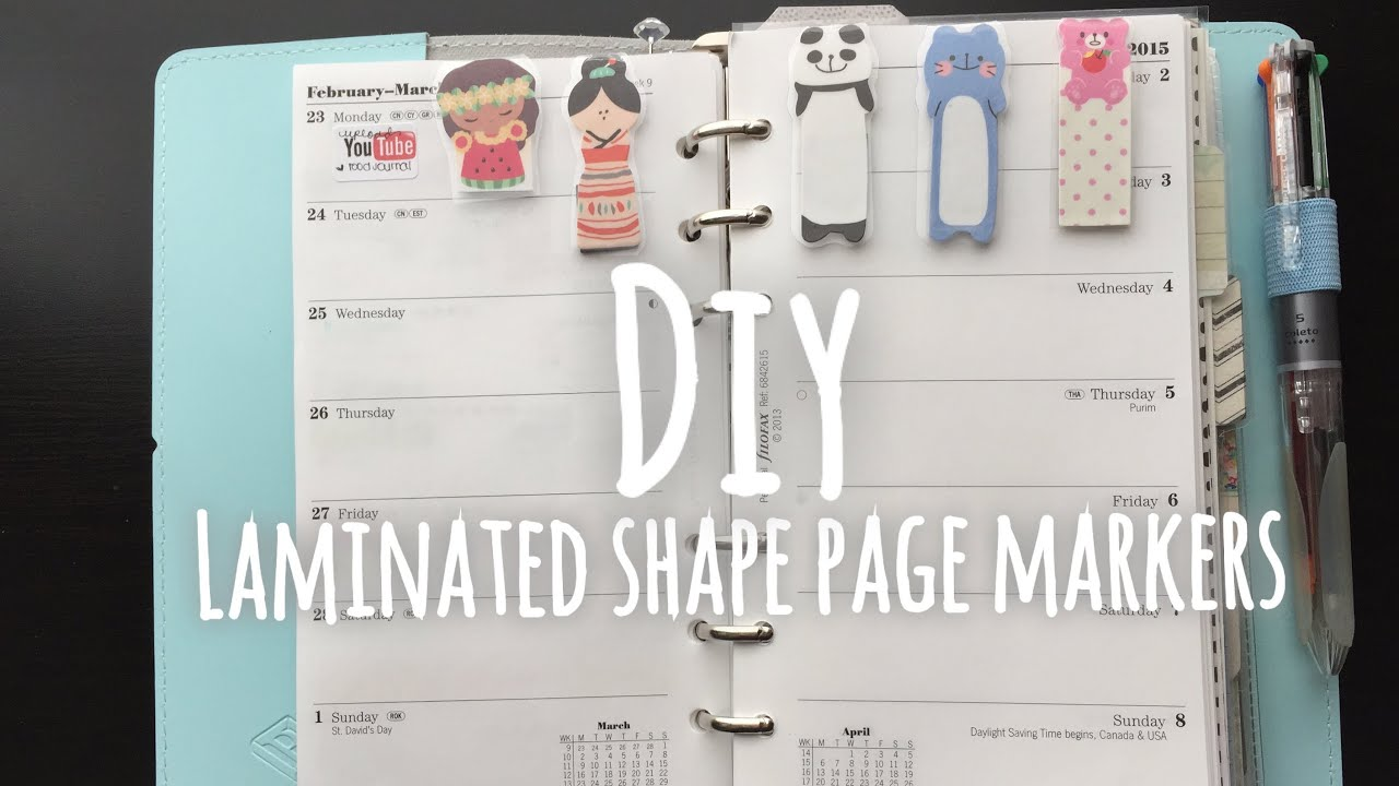 Diy Laminated Shape Page Marker For Planners Amp Books