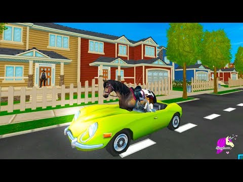 Horse Rides In My Car ! Crazy Star Stable April Fool's Prank Video Game  with Spirit