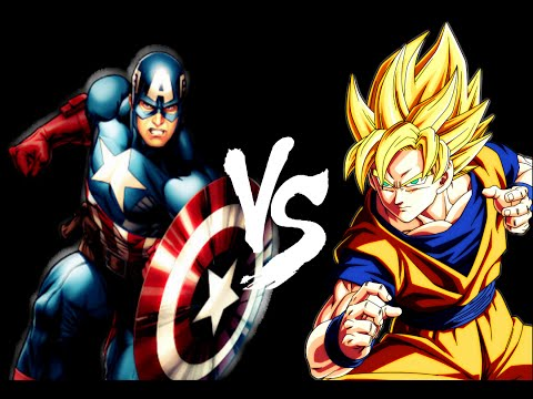 Mindless fun Captain America vs Goku