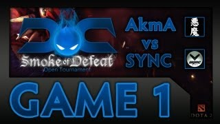 Dota 2 Cast with Reaves and SUNSfan - Smoke of Defeat Finals (SEA) - Game 1 (AkmA vs SYNC.DotA)