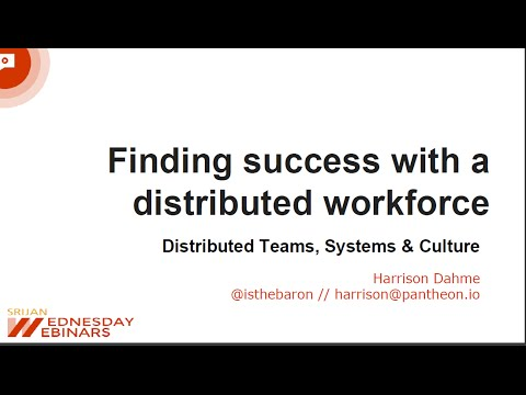 [Srijan Wednesday Webinars] Finding Success with a Distributed Workforce