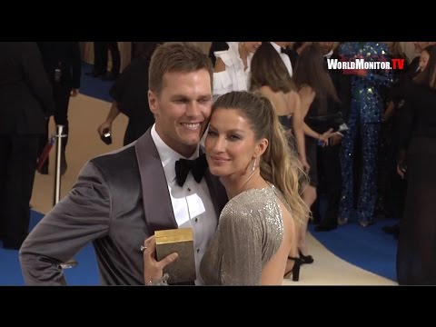 Model Gisele Bundchen and Tom Brady arrive at 2017 Met Gala