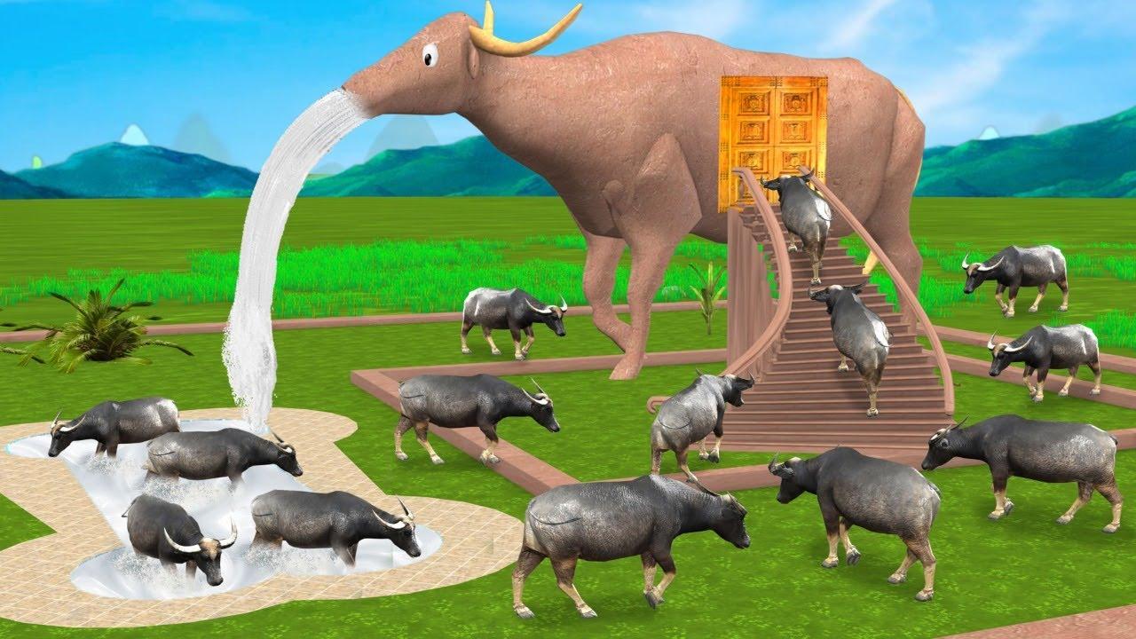 विशाल मिट्टी भैंस घर Giant Buffalo Mud House Comedy Video हिंदी कहानिया Hindi Kahaniya Comedy Video