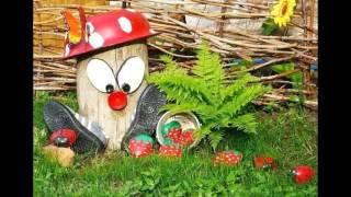 Дачная поделка гриб мухомор своими руками(Если хотите сделать свой двор красивым, и необычным, тогда украсьте его мухомором. Этот гриб мухомор ручной..., 2016-01-18T17:35:37.000Z)