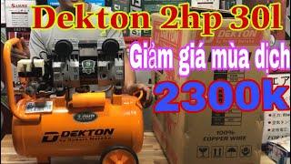 Máy nén khí . Bơm hơi ✅  DEKTON 2HP 30l  hơi sạch ✅ Máy Xây Dựng Thái Bảo.