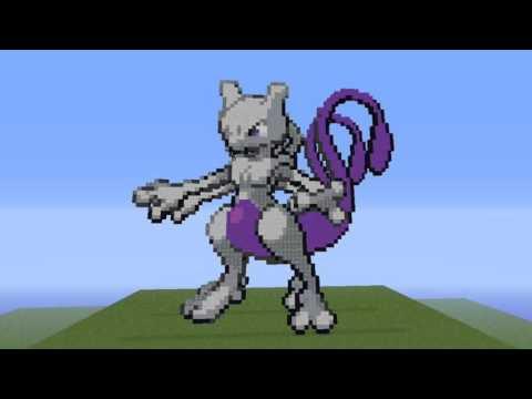 Les Plus Beaux Pixels Art Pokemon Minecraft Youtube