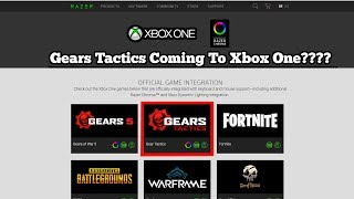 RAZER LEAK! Gears Tactic IS COMING TO XBOX ONE!