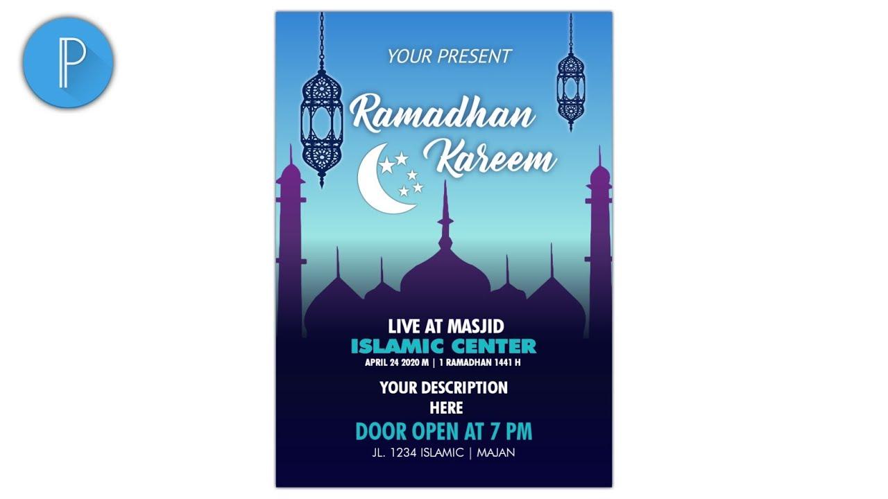 Tutorial PixelLab   Desain Poster Ramadhan Kareem - YouTube