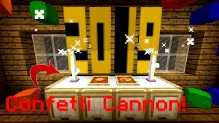 Minecraft How To Make AWESOME New Year& 39 s Eve Decorations – New Year& 39 s Eve Special No Mods