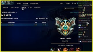 Player Number One to Reach Masters League First in Season 8 ! - Best of LoL Streams #287
