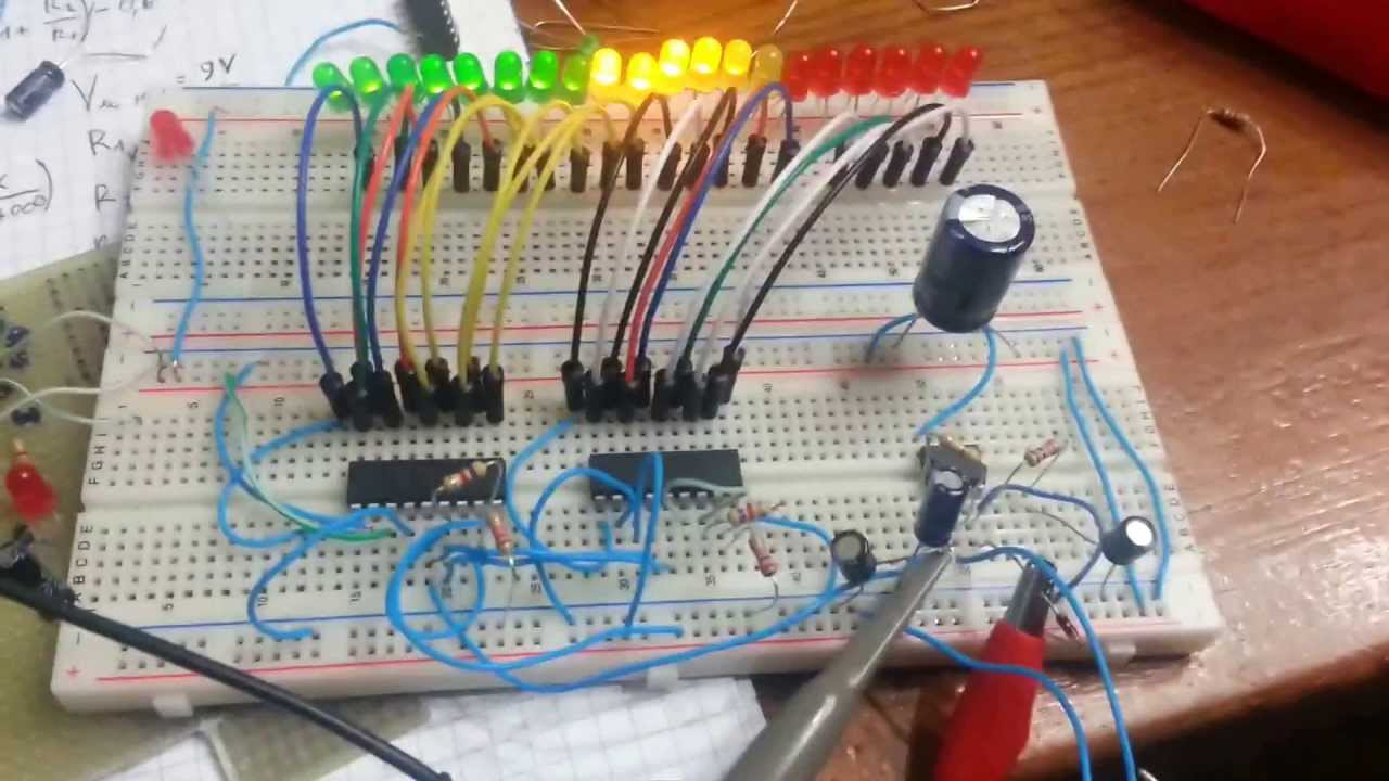 Vu Meter Using A Lm3915 Circuit Diagram This Is Simple Led Based On The Lm3914 Ic You