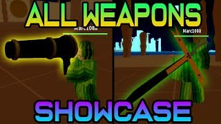 ALL WEAPONS SHOWCASE | Pirate Wrath (Roblox)