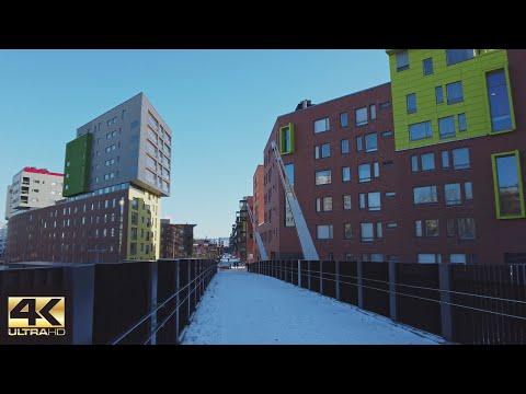 【4K】Walking - From Kallio to Mall of Tripla , Helsinki